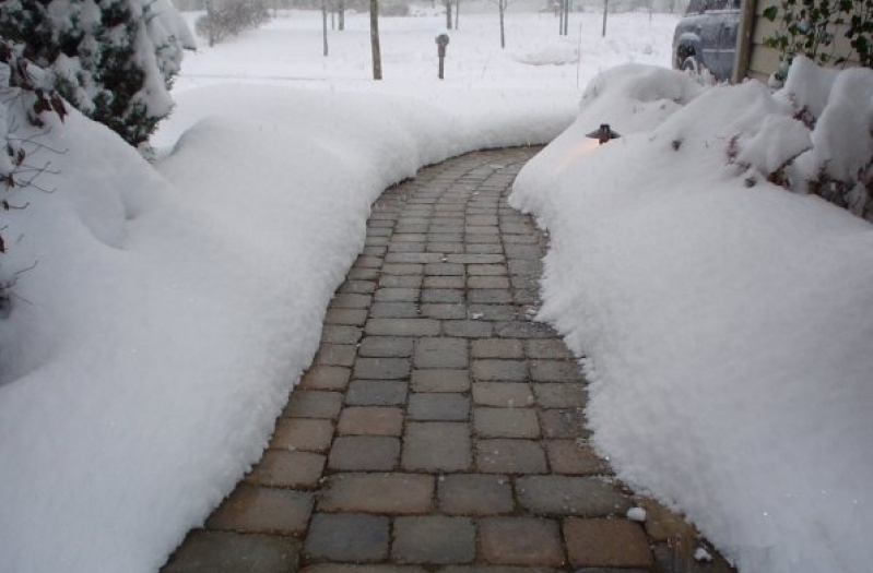 плитка зимой